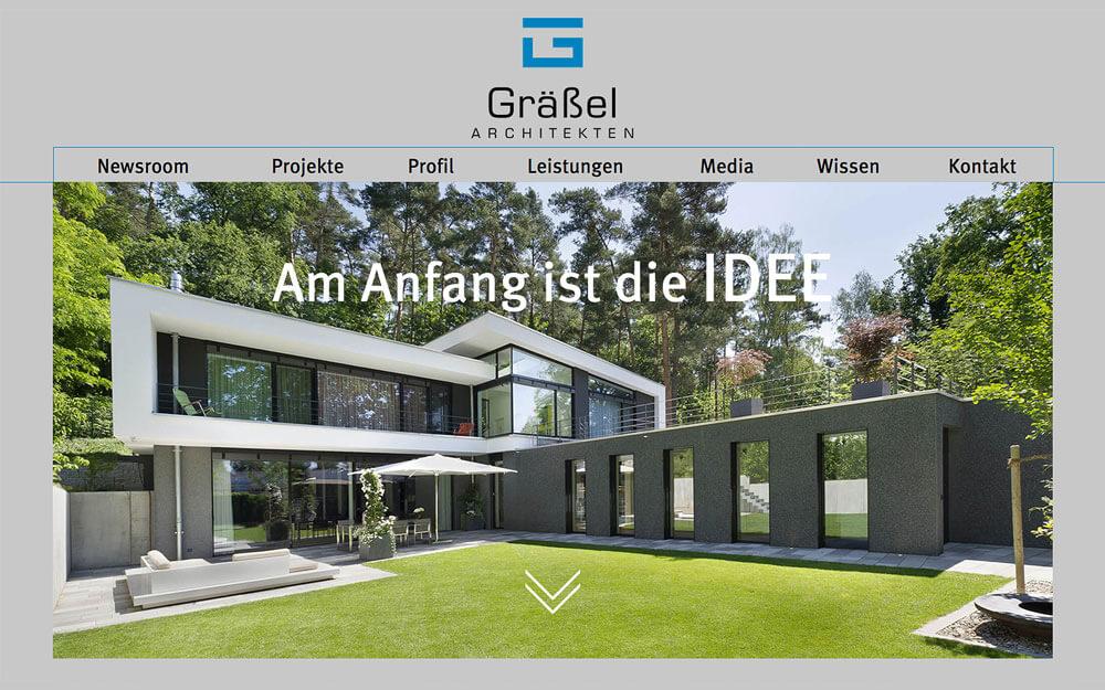 Graessel Architekten Webdesign Erlangen