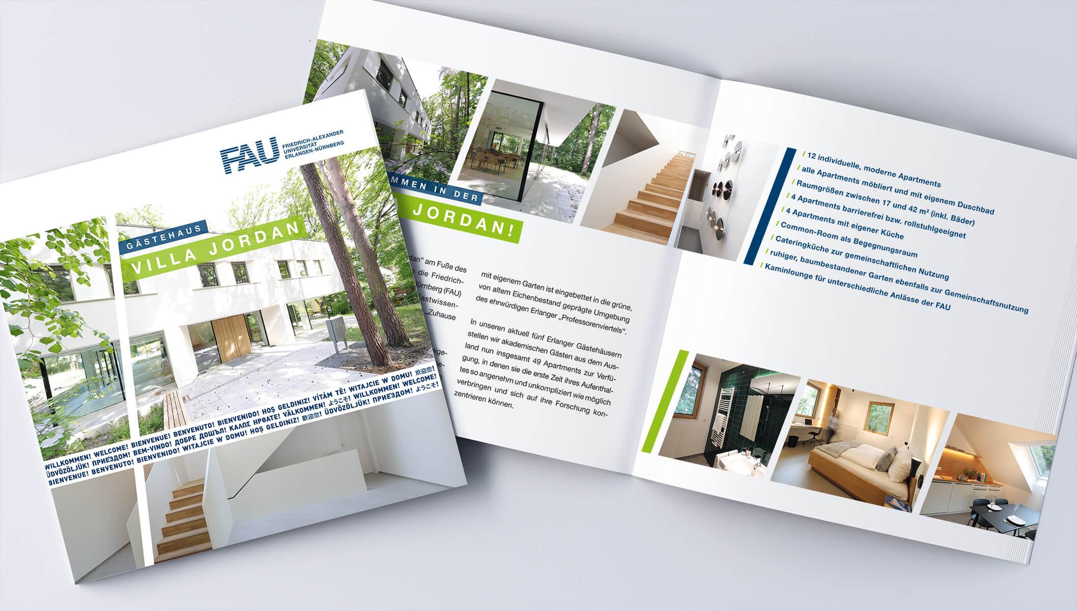 "FAU Gästehaus ""Villa Jordan Eröffnung"" Einladung"
